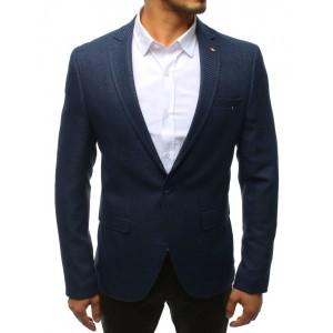 Sportovní tmavě-modré pánské sako se zapínáním na jeden knoflík