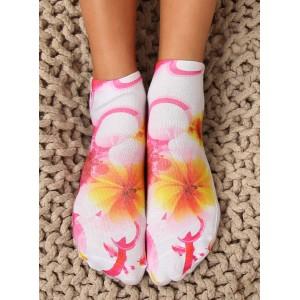 Originální dámské kotníkové ponožky s květinami