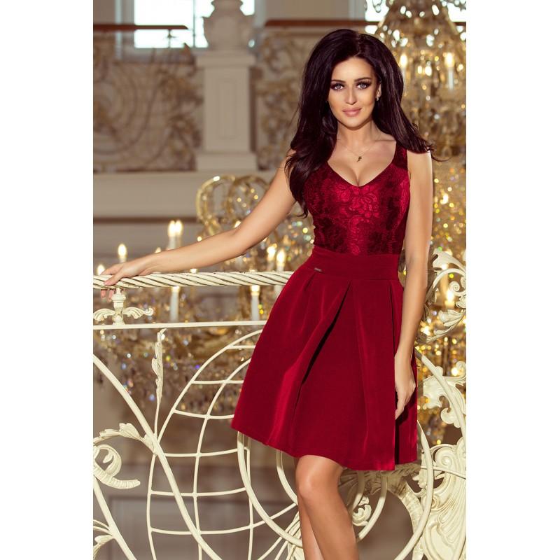 7e944242c7e Dámské společenské šaty vínové barvy