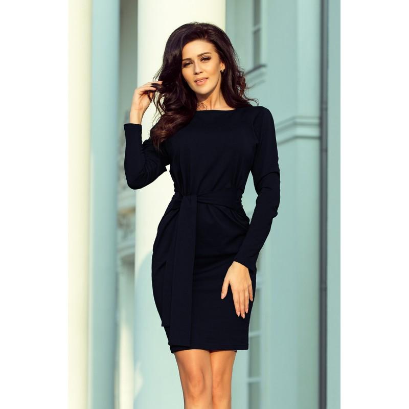 522ee8145eaf Plesové šaty s dlouhým rukávem tmavě modré barvy