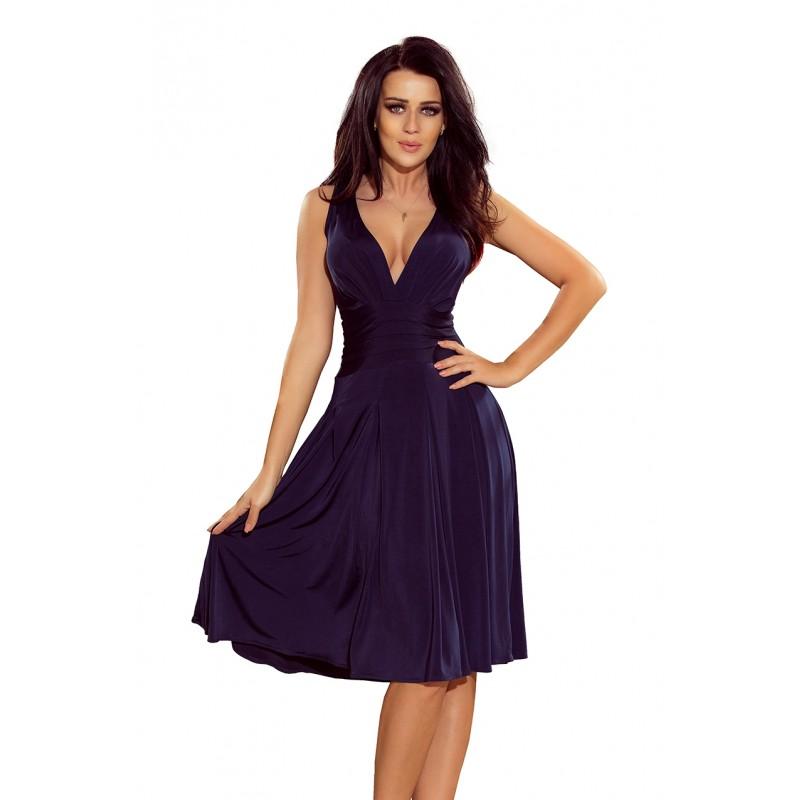 003c584356ae Tmavě modré krátké plesové šaty