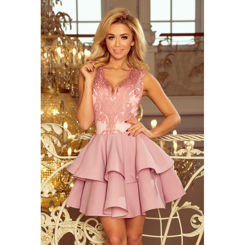 Společenské šaty krátké růžové barvy b0b2c364f39