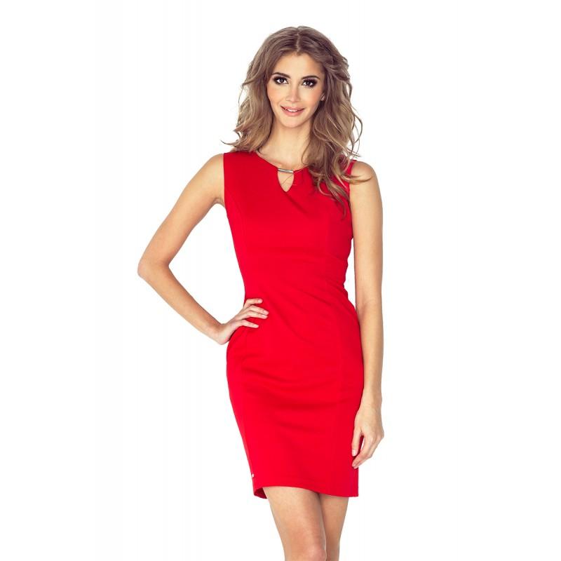 Krátké plesové šaty červené barvy 016e588015b