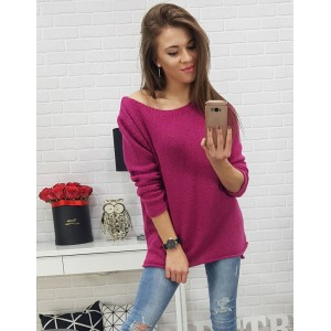Moderní dámský svetr růžové barvy