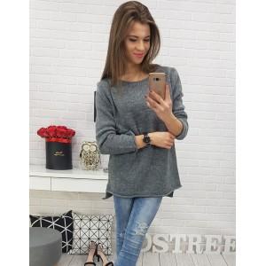 Dámský pletený svetřík šedé barvy