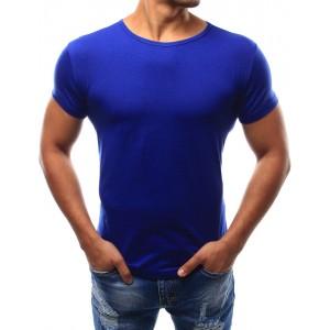 Pánské tričko modré barvy bez potisku
