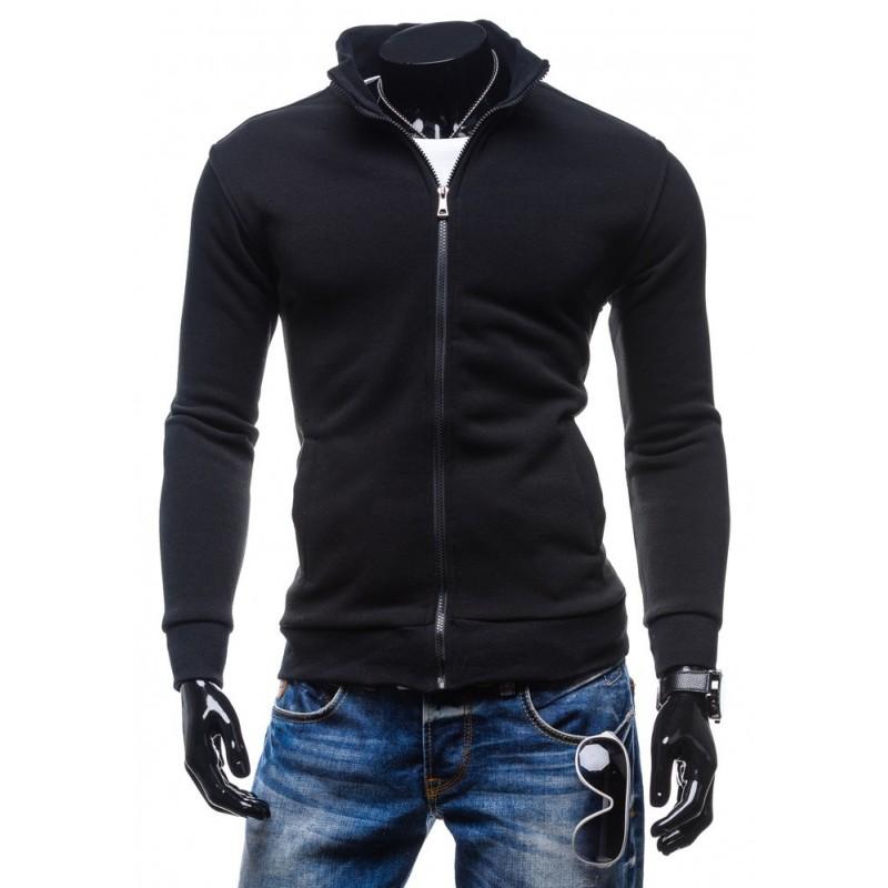 ... kapuce Moderní pánské mikiny černé barvy se zipsem bez kapucí. Předchozí 311faadb49