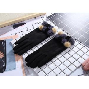 Zimní stylové dámské rukavice v černé barvě