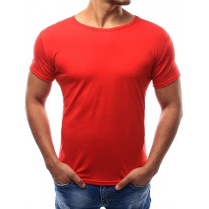 Stylové jednobarevné tričko červené barvy