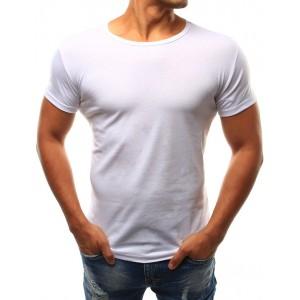 Kvalitní bílé pánské tričko s krátkým rukávem