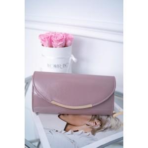 Trendy růžová dámská lakovaná kabelka do ruky