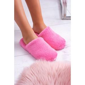 Tmavě růžové dámské nasouvací pantofle