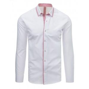 Elegantní bílá pánská košile s dlouhým rukávem