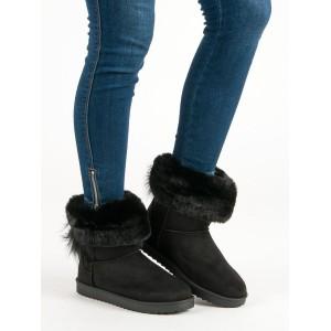 Dámská zimní obuv sněhule černé barvy