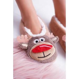 Originální dámské teplé pantofle s trendy motivem soba