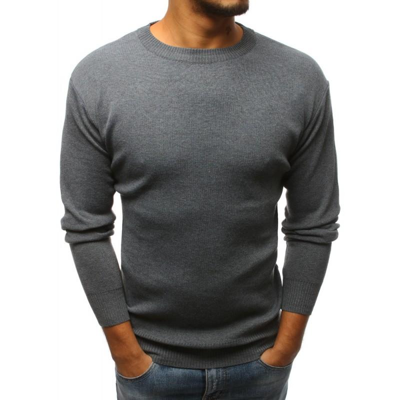 f81d7286c01 Teplý šedý svetr pro pány na zimu