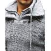 Hrubý módní svetr pro pány v bílé barvě