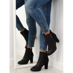 Kotníkové boty dámské černé barvy
