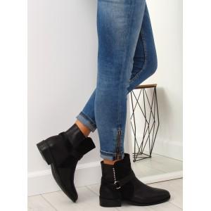 Černé dámské kotníkové boty na zimu