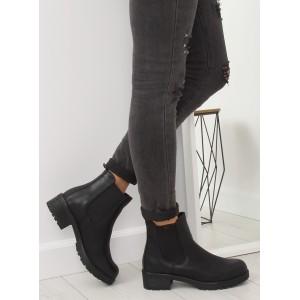 Dámská kotníková obuv černé barvy na zimu