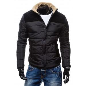 Trendy pánské zimní bundy černé barvy