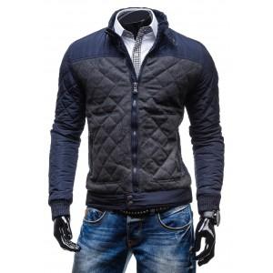 Moderní pánská zimní bunda modré barvy