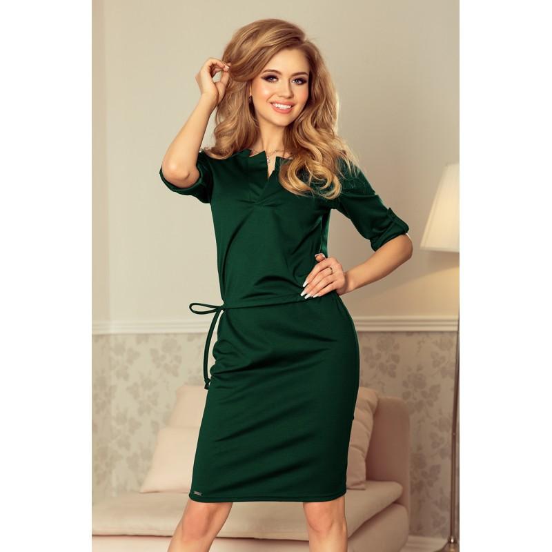 14a5e71de9c0 Krátké plesové šaty zelené barvy