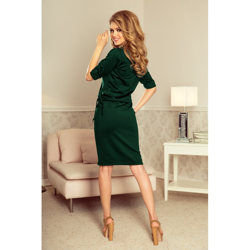 Krátké plesové šaty zelené barvy 86695275d7